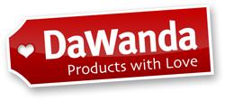 DaWanda-Logo als JPG (250 Pixel Breite mit weißem Hintergrund und Schatten)